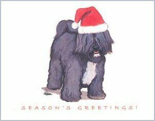 Tibetan Terrier Christmas Cards
