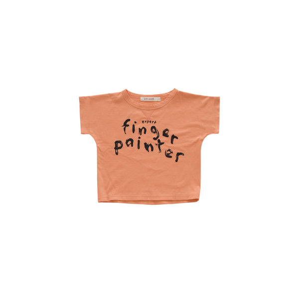 Kid+Kind - 'Finger-Painter' T-Shirt - Orange Crush