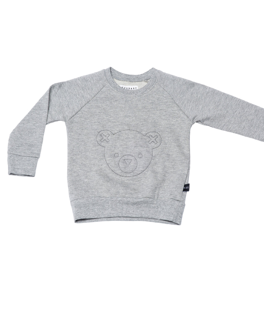 Huxbaby - Hux Bear Fleece Sweatshirt - Grey Marle