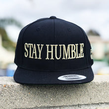 Unisex Snapback Hat | 3D Stay Humble | Black Gold