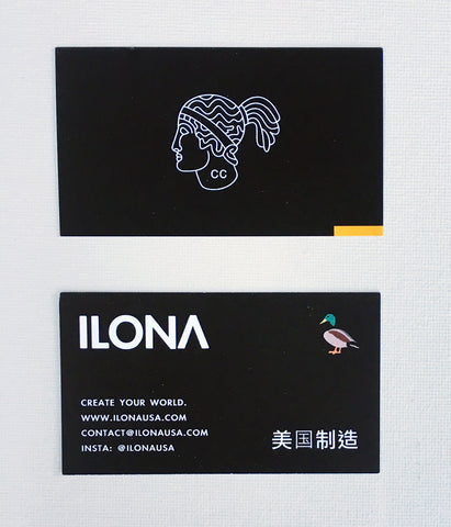 Ilona business card tailor by taylor fashion art local los angeles