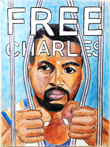 """Free Charles"" Charles Oakley Poster"