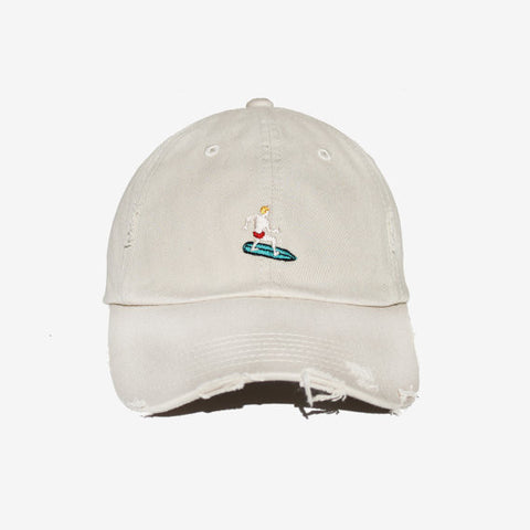 Tattered Tan Surfer Hat