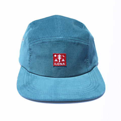 Turquoise Blue Corduroy 5-Panel Hat