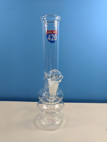 "12"" clear bong with highway 420"