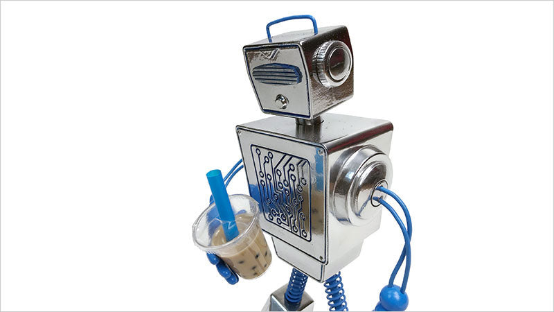 Boba Bot designer toy for collectors, boba lovers and robot lovers