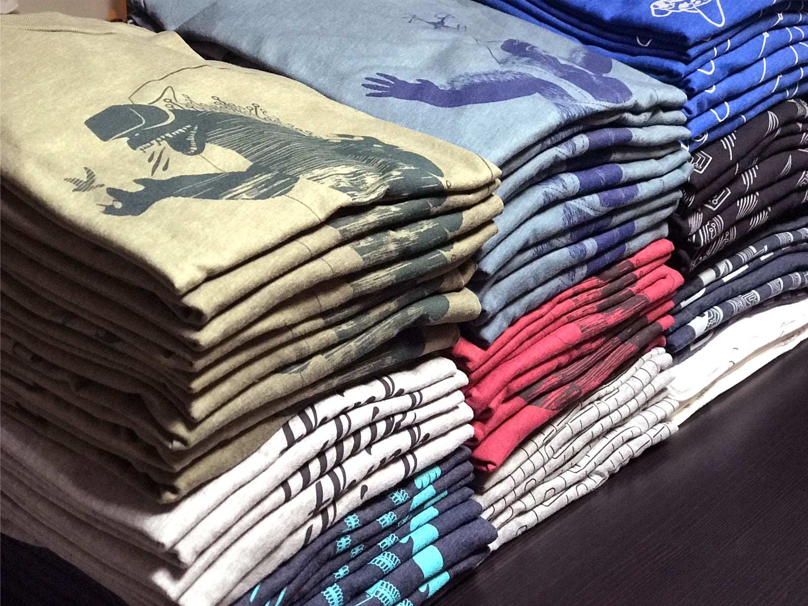 Story Spark folded graphic t-shirts