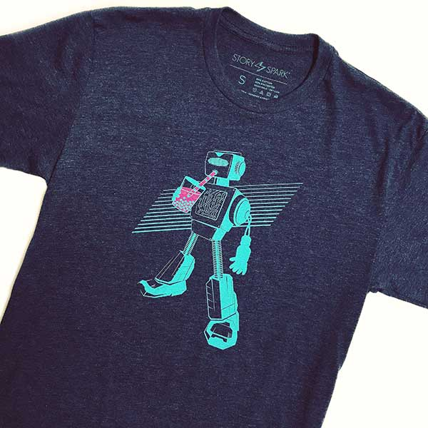 Boba Bot Unisex Graphic T-shirt for Boba Lovers and Robot Lovers