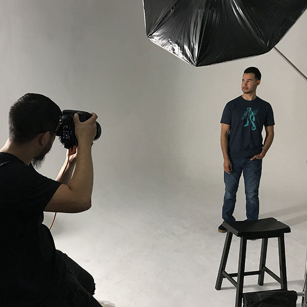 Photo Shoot of our Boba Bot Graphic T-shirt