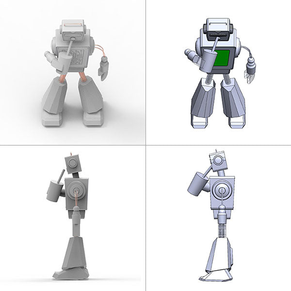 Early 3D renderings of Boba Bot