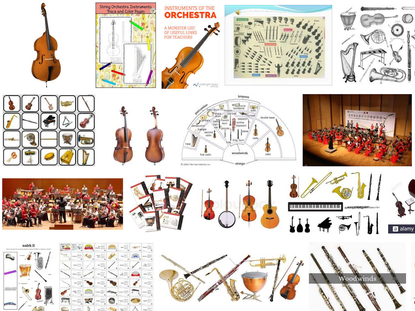 Examples of orchestra instruments