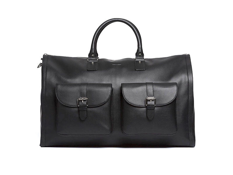 Leather Garment Weekender Bag by Hook and Albert
