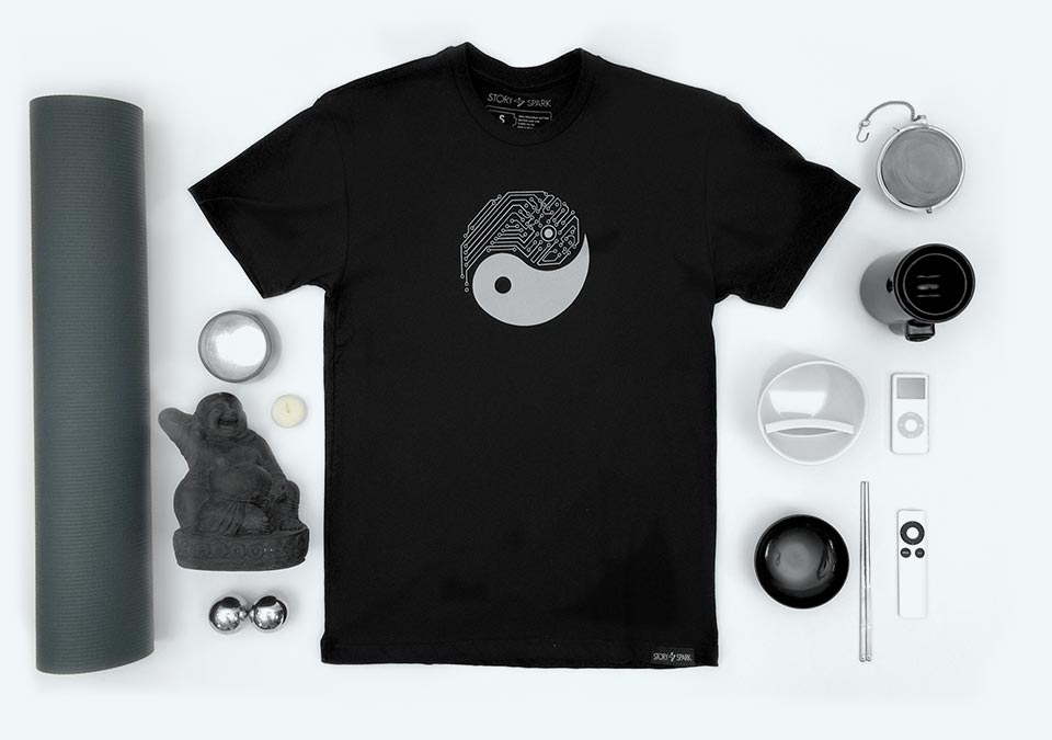 Yin Yang Graphic Tee by Story Spark