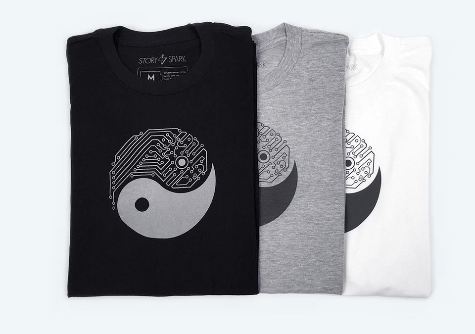 Techy YIN YANG Graphic T-Shirts by STORY SPARK