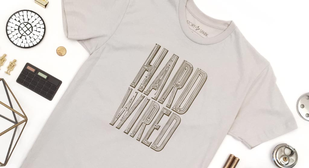 Graphic T-Shirt: Hard Wired