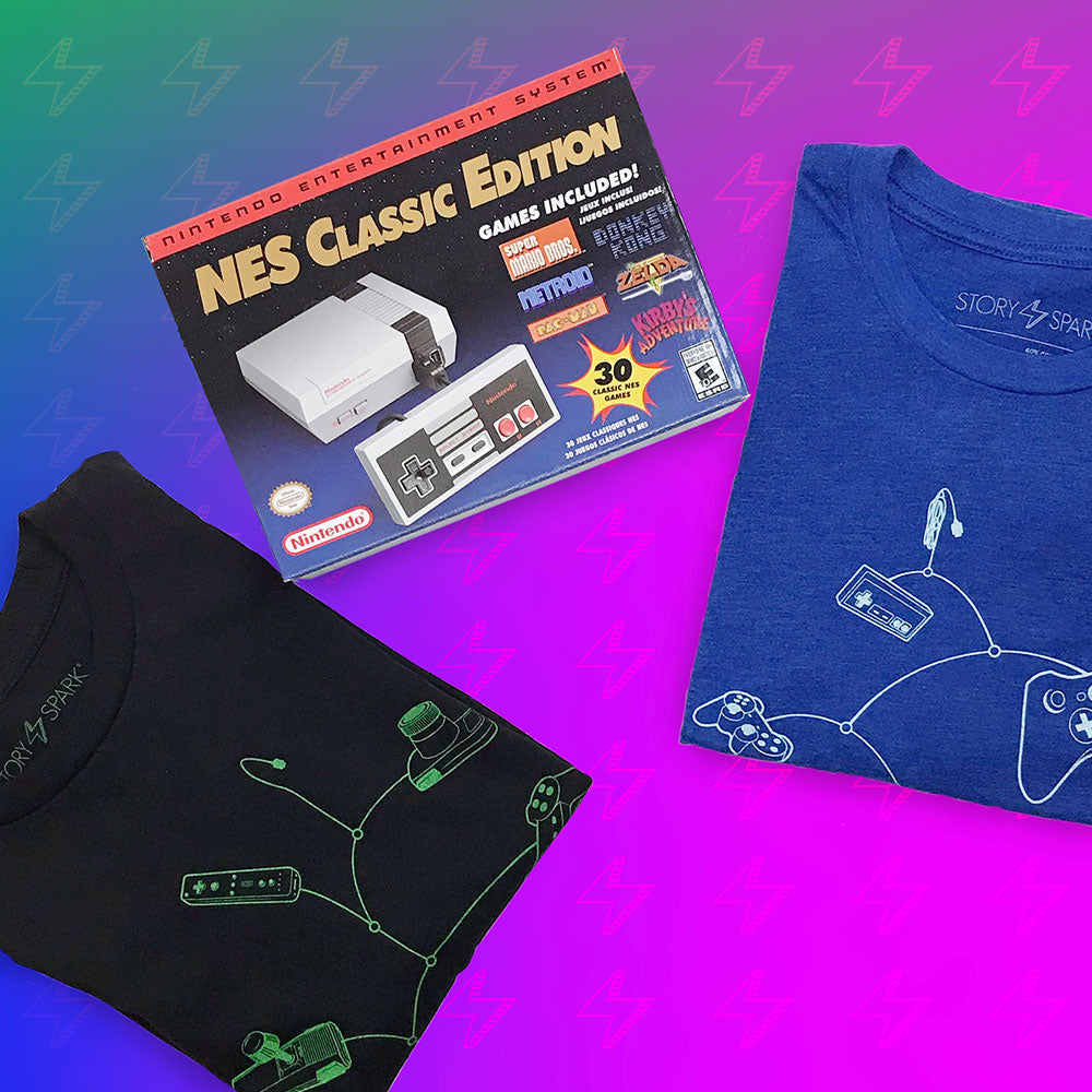 NES Classic Edition and Gamer T-shirts Giveaway by STORY SPARK