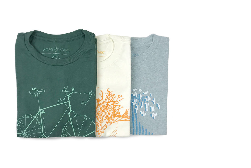 Sustainable and Unique Graphic T-shirts for Engineers and Techies - inspired by art and technology
