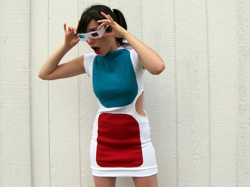 3d glasses dress by MyDiguises.com - tech costume