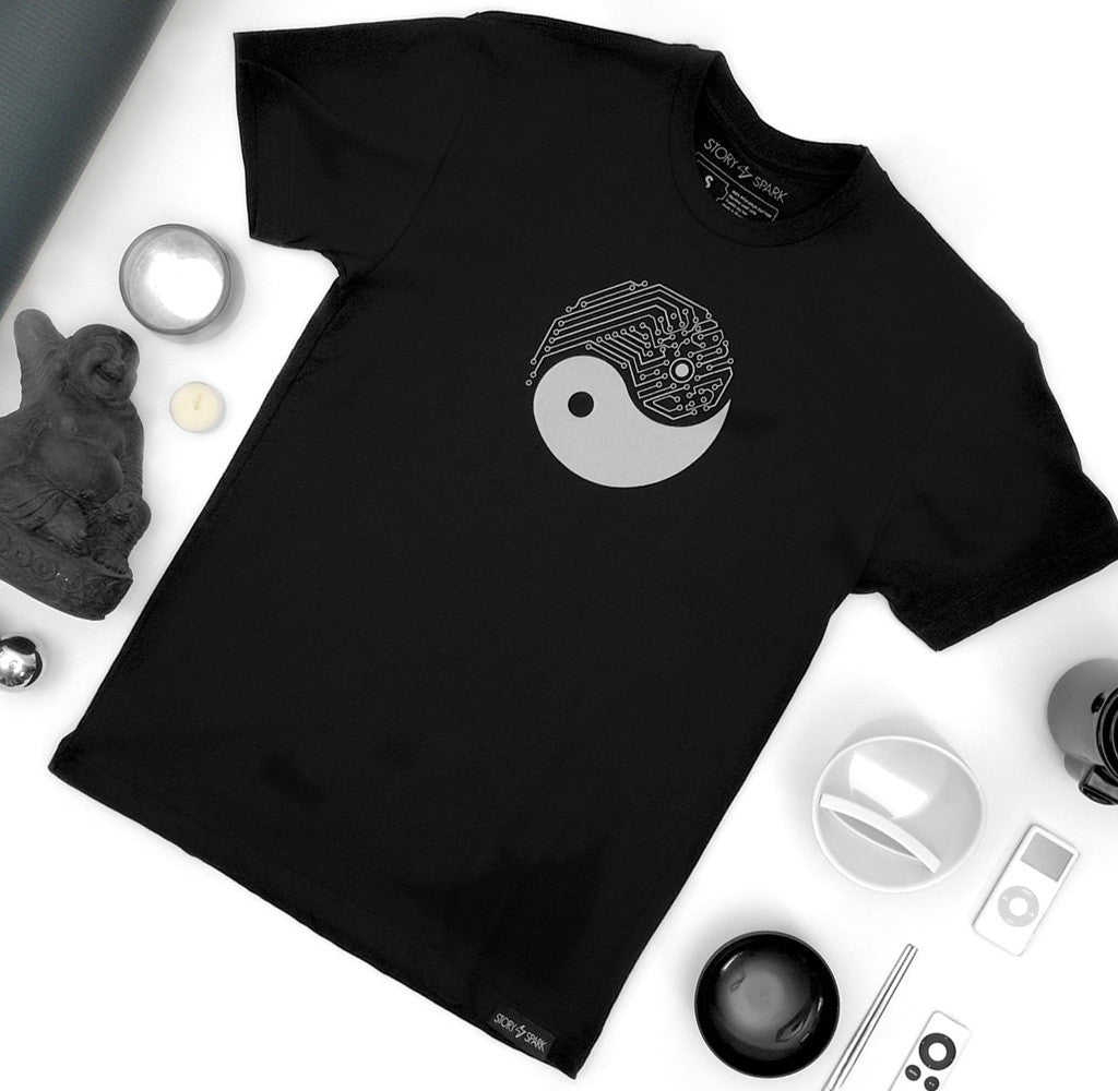 Graphic T-shirt for Techies and Geeks - Yin Yang Tech