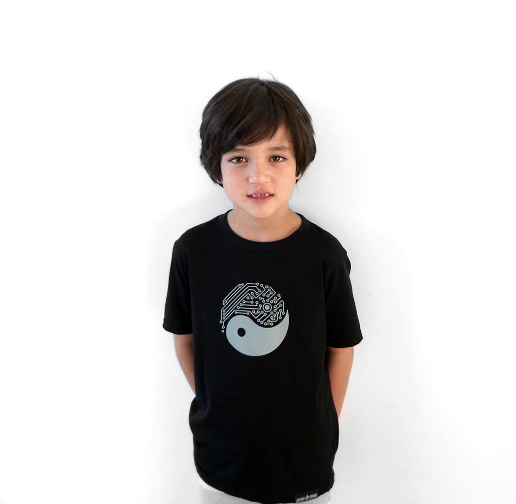 Yin Yang Kids Techie Graphic T-shirt by Story Spark