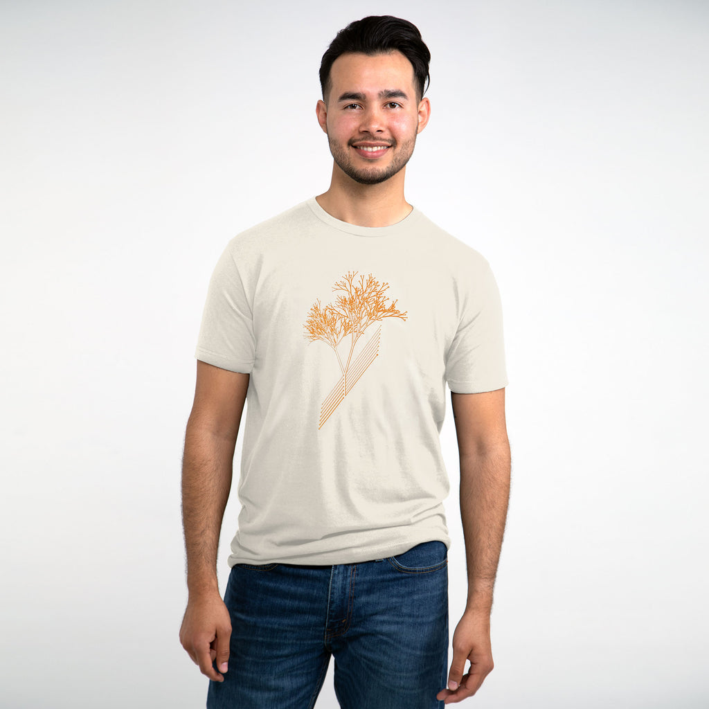 Sustainable T-Shirt - Circuit Tree Eco-friendly T-shirt (Natural)