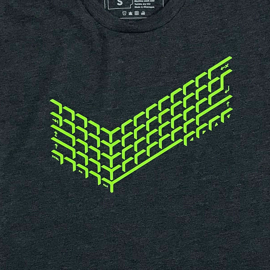 Computer Keyboard Graphic T-Shirt for Gamers, Engineers