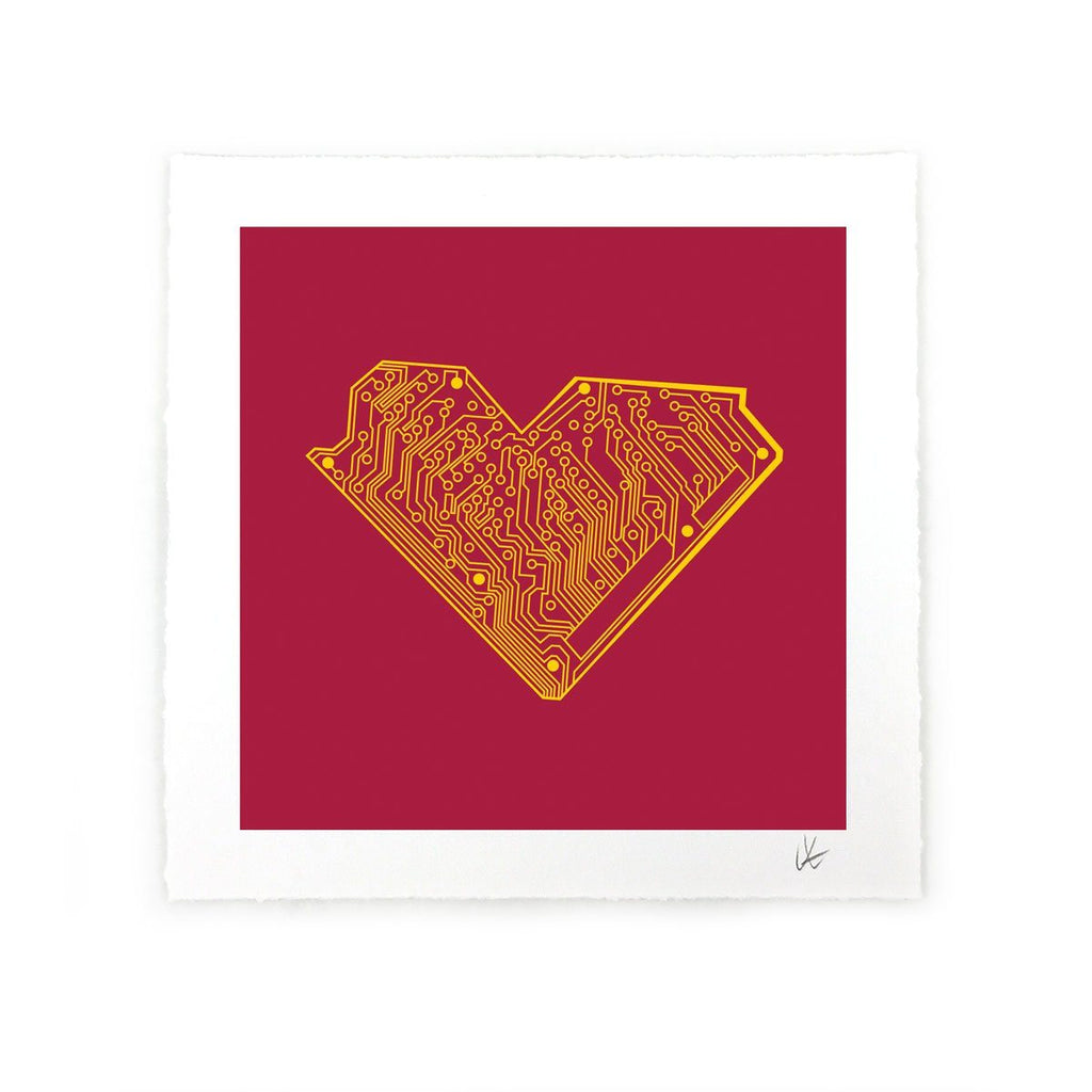 I Heart Tech Art Print - STORY SPARK