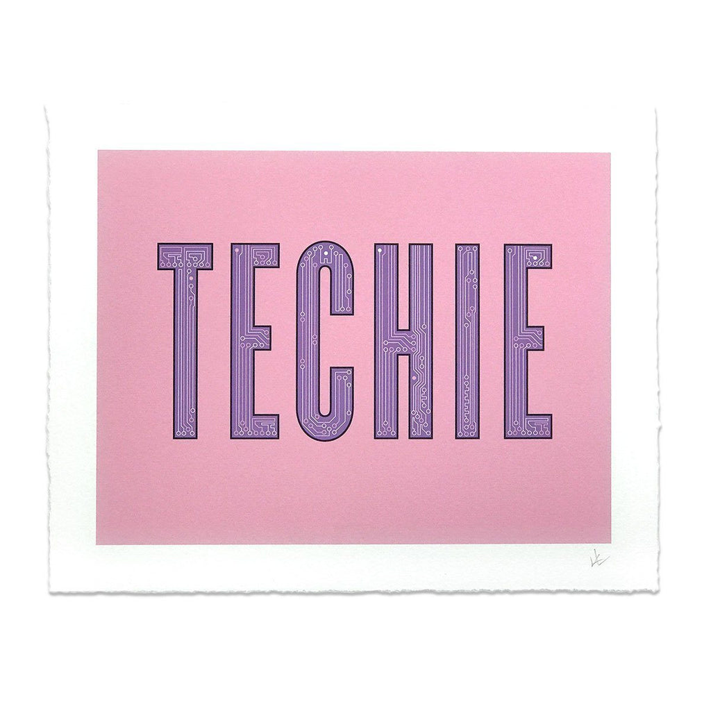 Techie Word Art Print - STORY SPARK