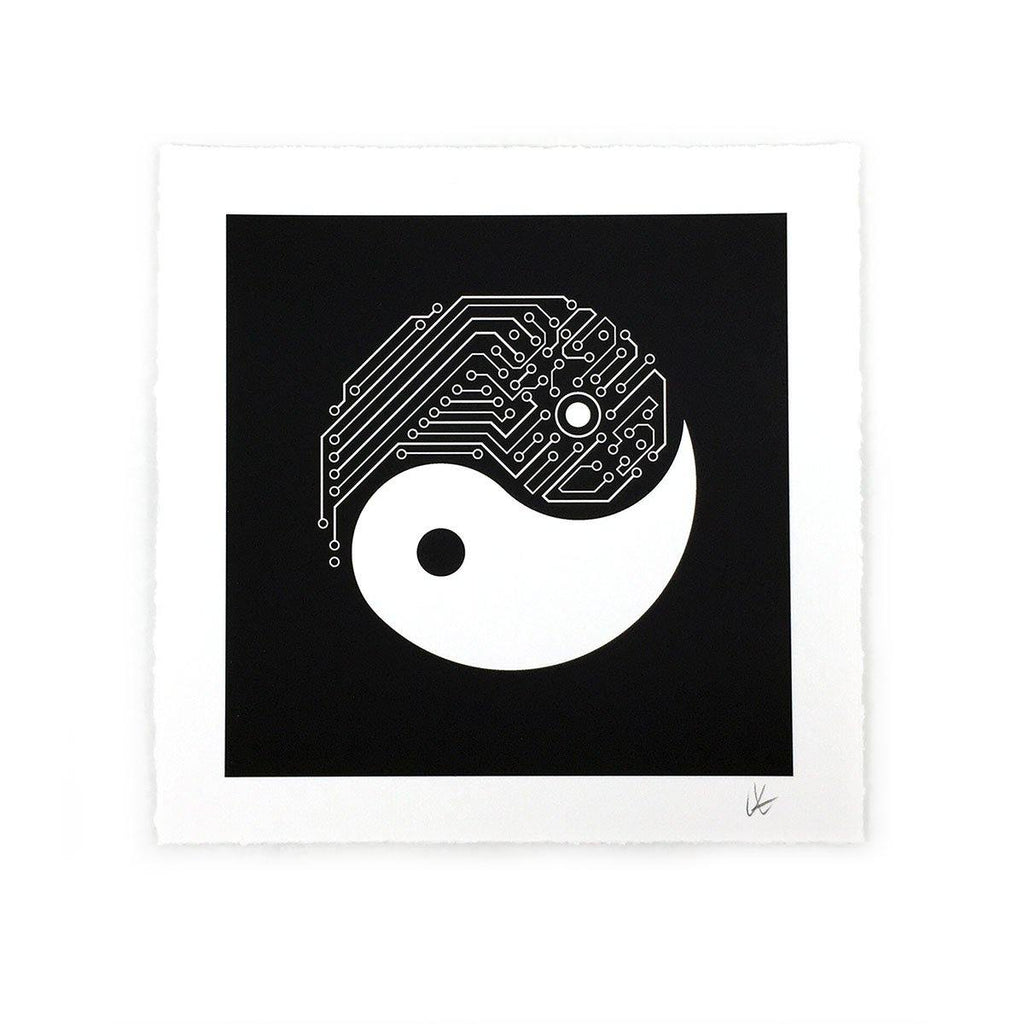 Art - Yin Yang Tech Art Print