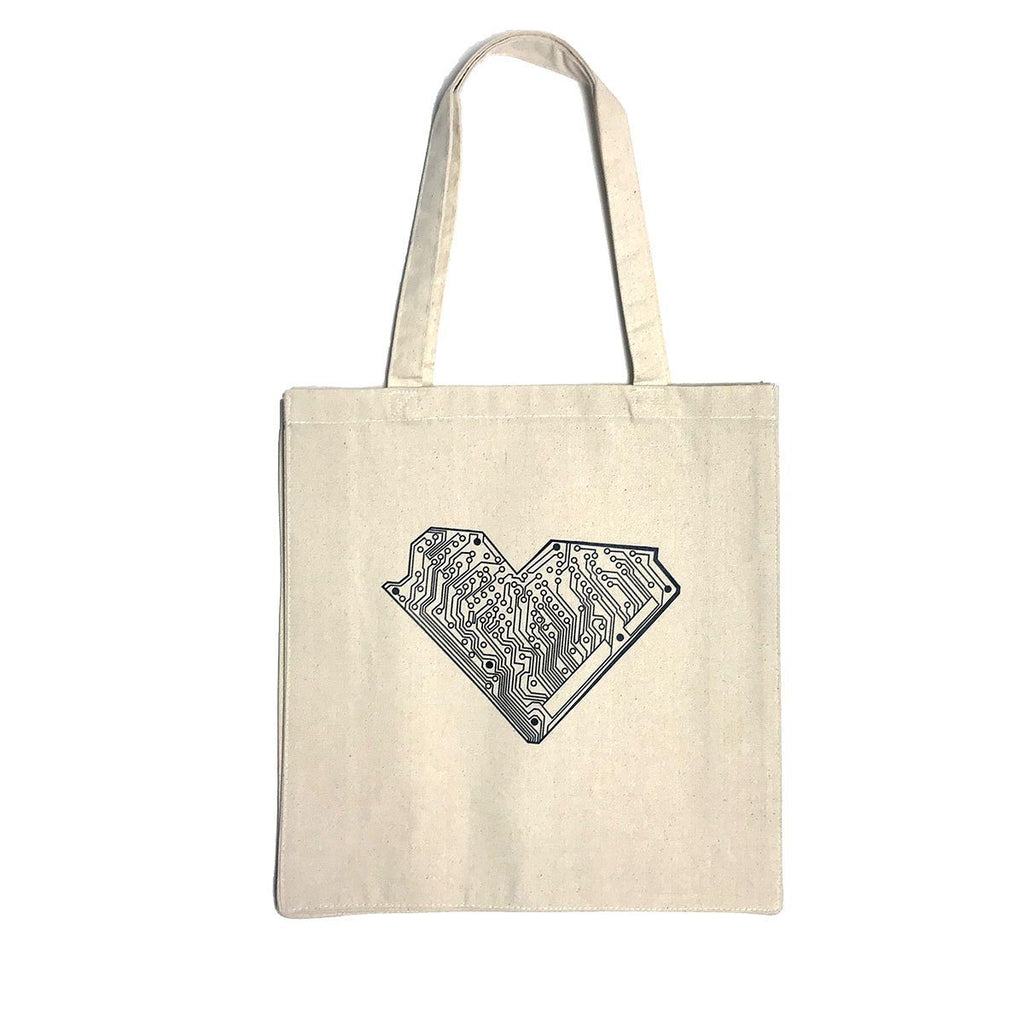 I Heart Tech Canvas Tote Bag - STORY SPARK