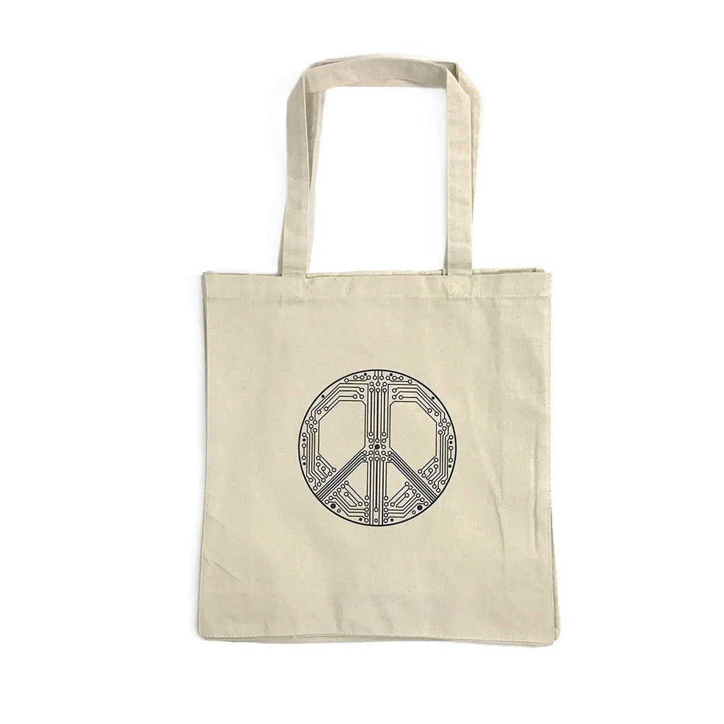 Bags - Smart Peace Canvas Tote Bag