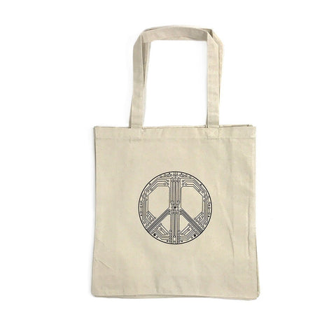 Smart Peace Canvas Tote Bag