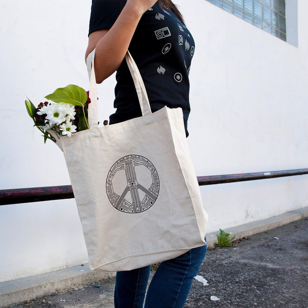 Smart Peace Canvas Tote Bag - STORY SPARK