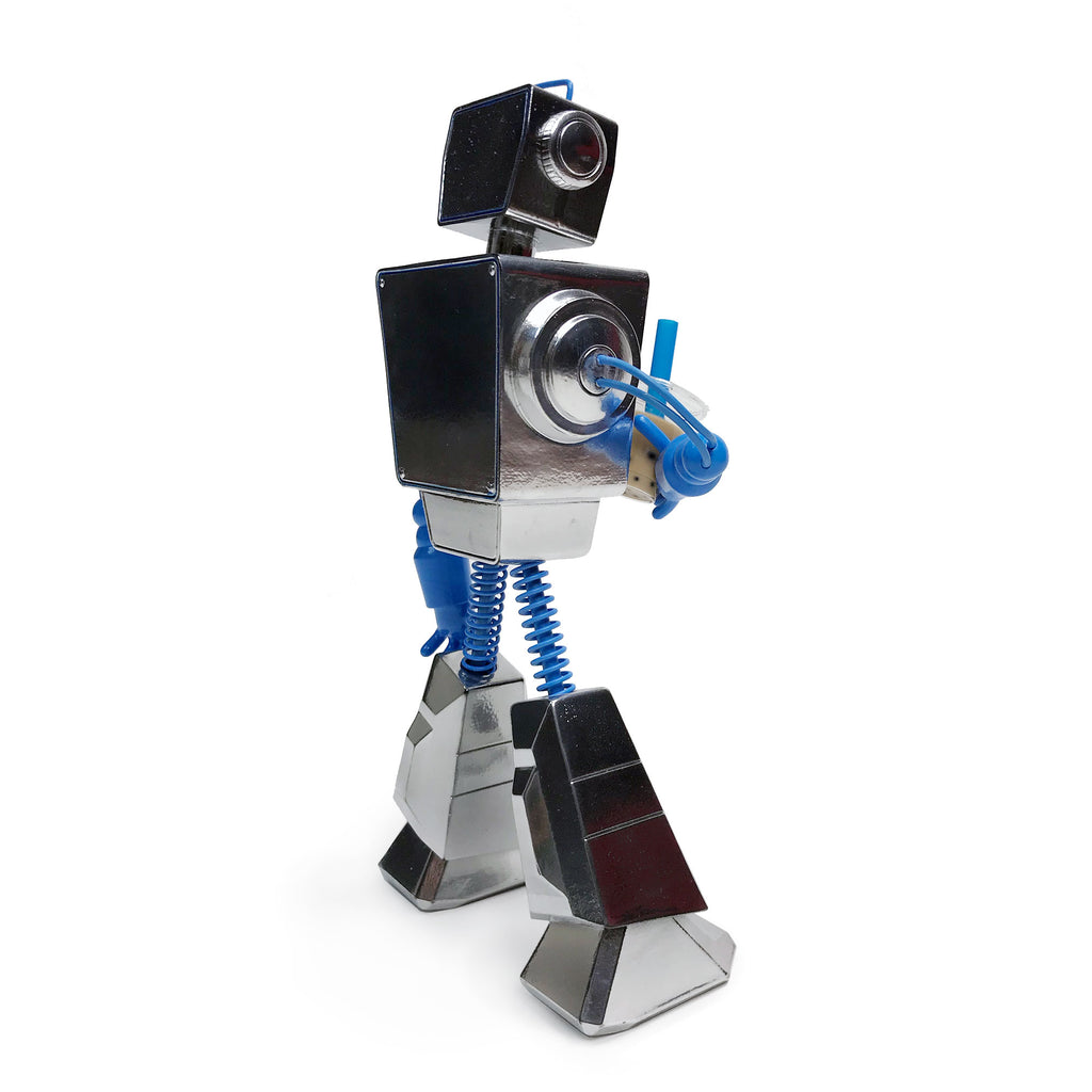 Collectible Chrome Painted Boba Bot Resin Figure