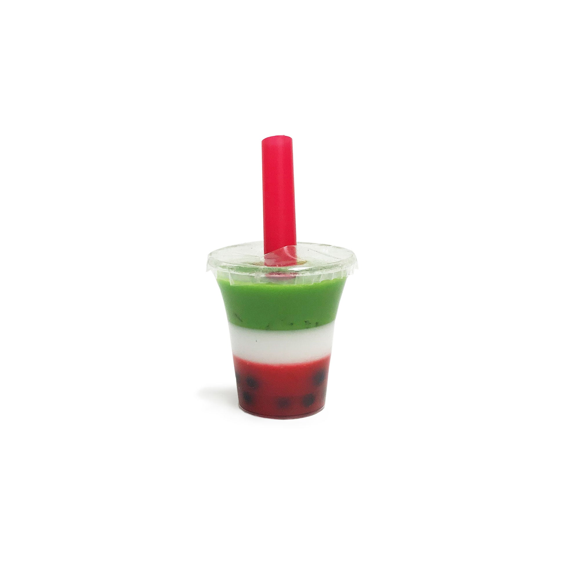 Strawberry Matcha Boba Cup for Resin Boba Bot