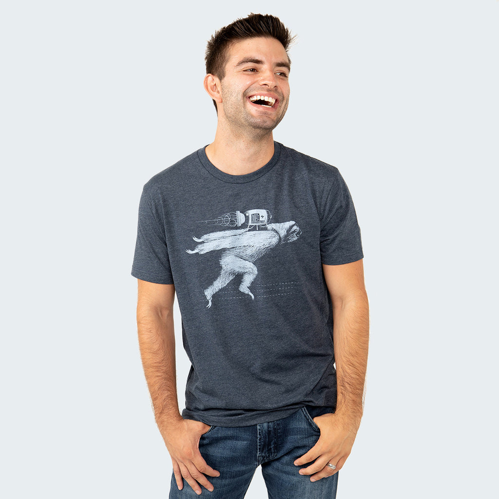 Rocket Sloth T-shirt by STORY SPARK