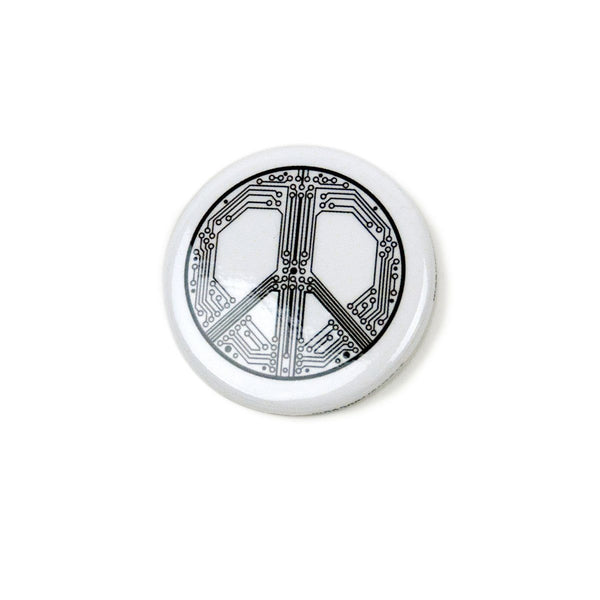 Button Pins - Smart Peace Button Pin - Story Spark