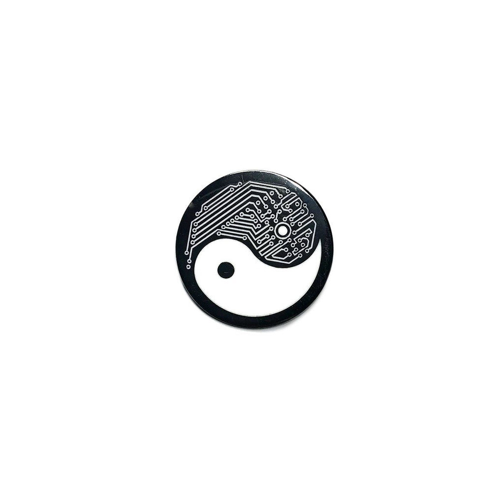Button Pins - Yin Yang Tech Enamel Pin