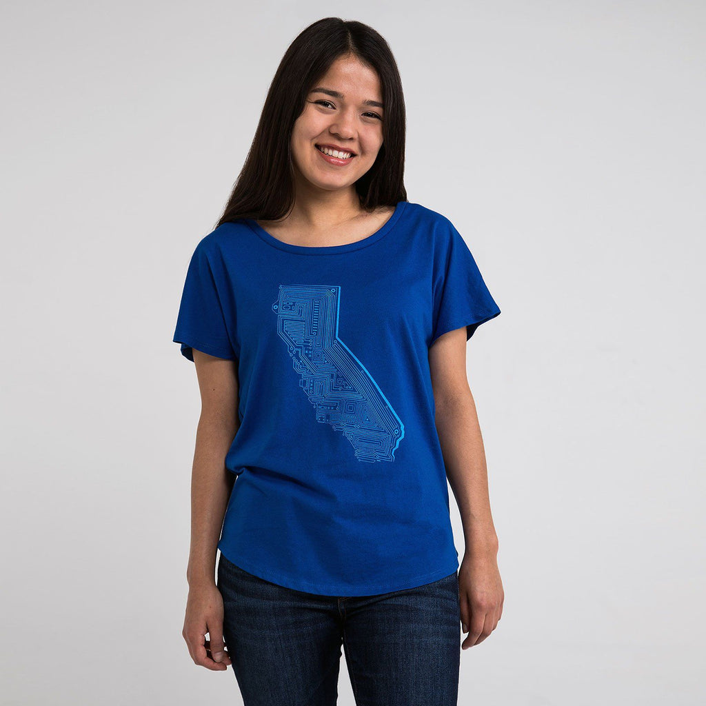 Cali Tech Dolman Shirt (Royal Blue) - STORY SPARK