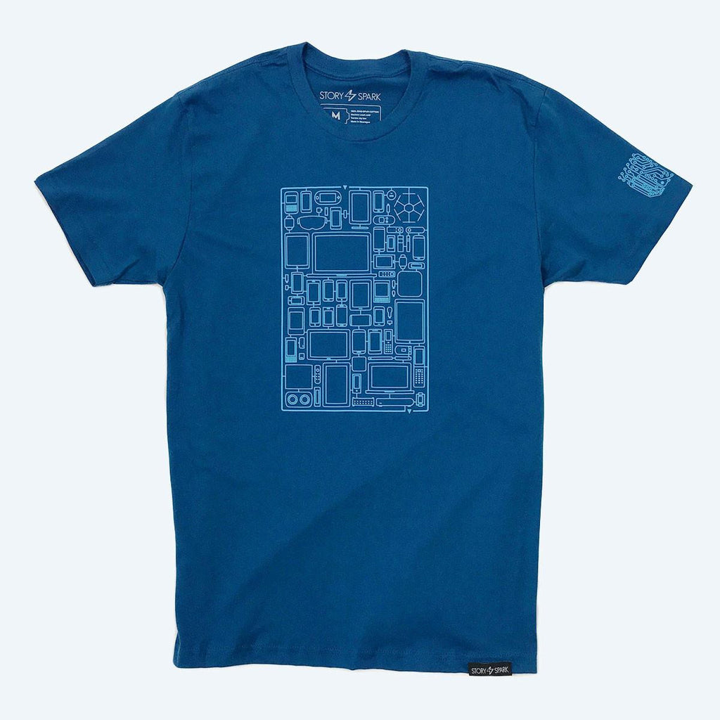 Graphic T-Shirts - A Mazing Devices T-Shirt (Cobalt Blue)