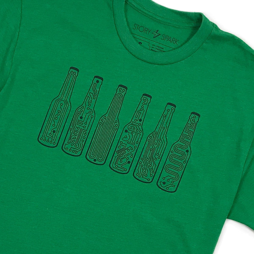 Bar Code T-Shirt (Green) - STORY SPARK