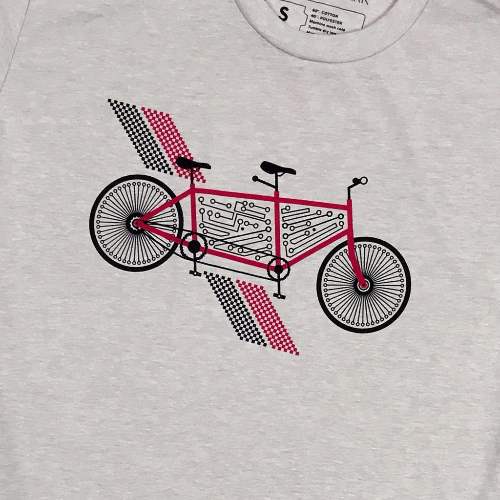 Tech Tandem Bike Graphic T-Shirt by STORY SPARK