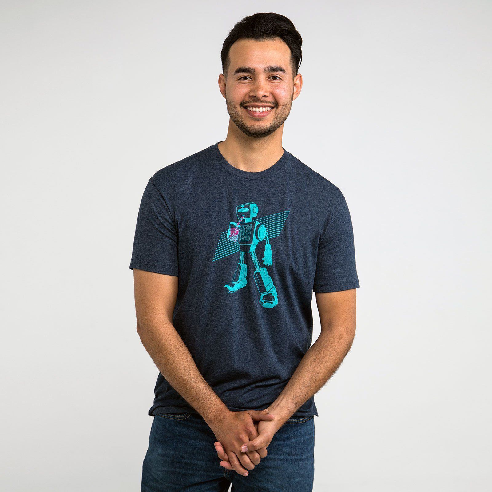 Boba Bot Tech T-shirt for engineers, scientists, robotics