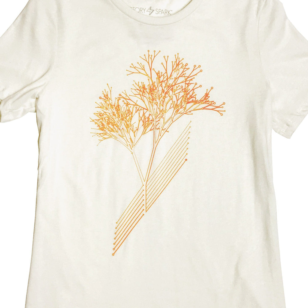 Graphic T-Shirts - Circuit Tree Womens T-shirt (Natural)