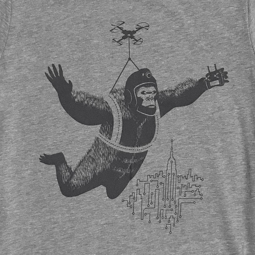 Dropship King Kong by Drone Graphic Tee