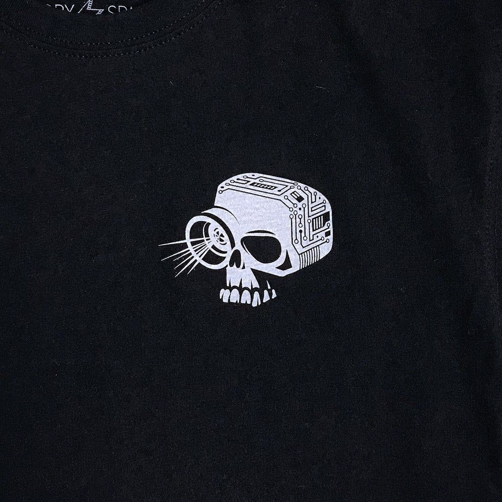Skull Camera Graphic T-shirt (Black) - STORY SPARK