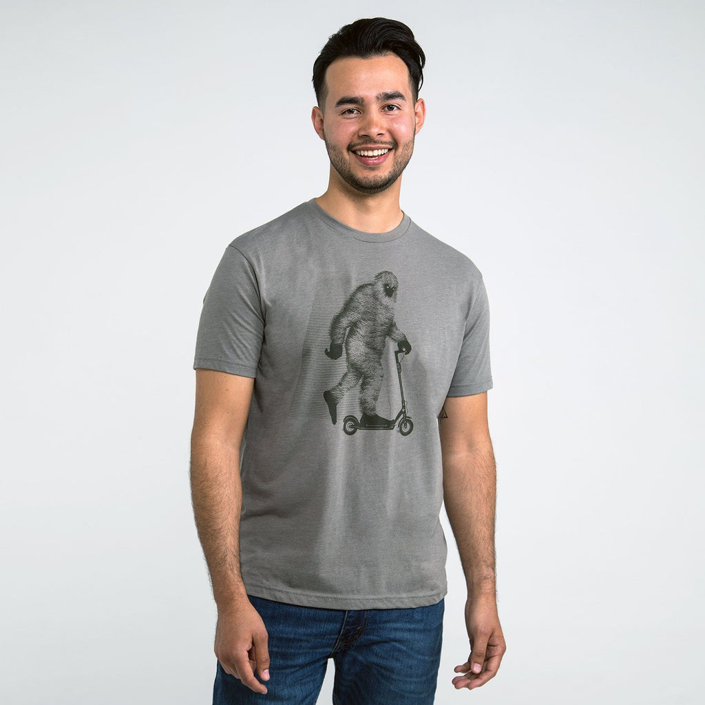 Go BIGFOOT Graphic T-shirt (Warm Grey) - STORY SPARK
