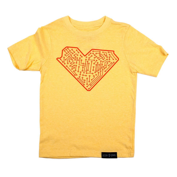 Graphic T-Shirts - I Heart Tech Kids T-Shirt - Story Spark - 1