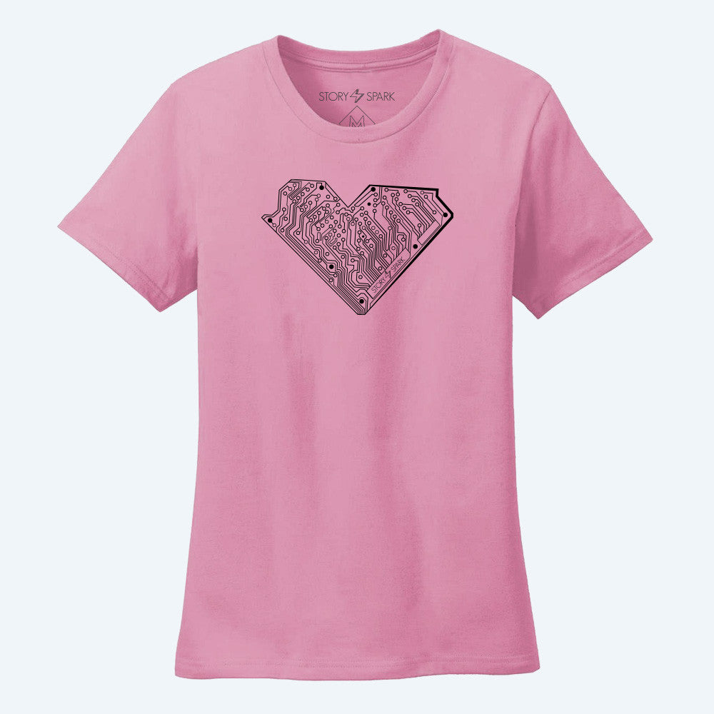 Graphic T-Shirts - I Heart Tech Womens T-Shirt - Story Spark - 1