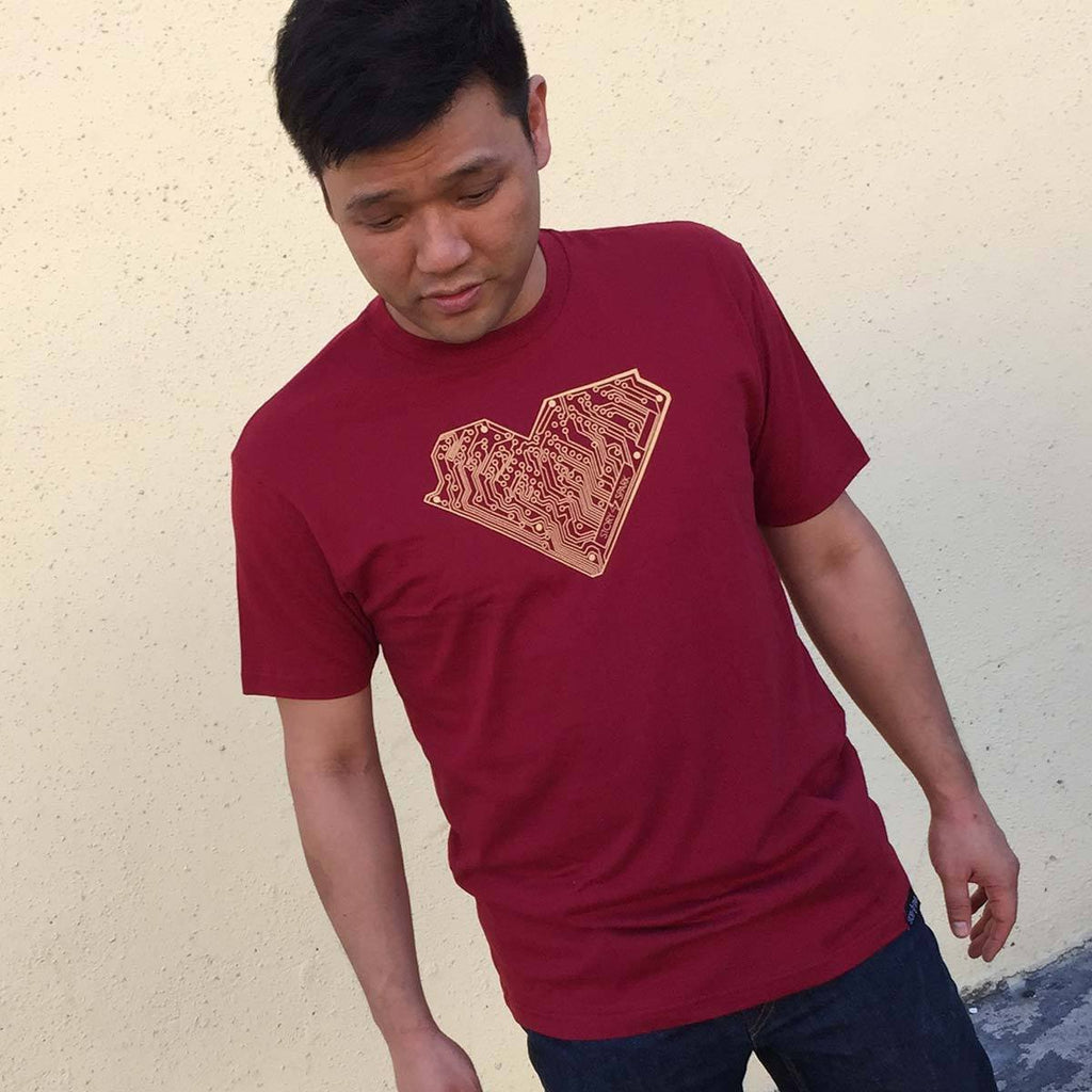 I Heart Tech T-Shirt (Crimson) - STORY SPARK